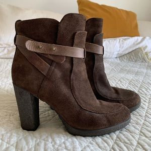 Geox Respira Suede Leather Ankle Booties